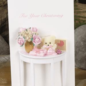 Hand Made Card pink