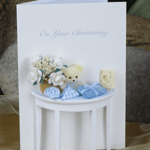 Christening Card Blue