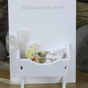 Baby Crib Hand Made Card