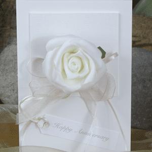 White Rose Hand Made Card