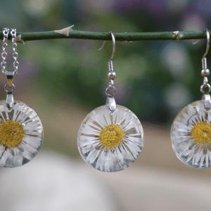 Silver Daisy flower set