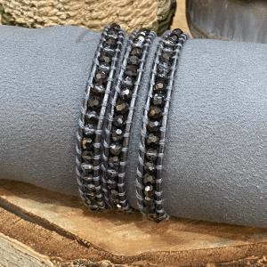 Smokey Crystals Bead Bracelets