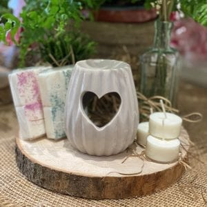 Textured Heart Burner - Taupe