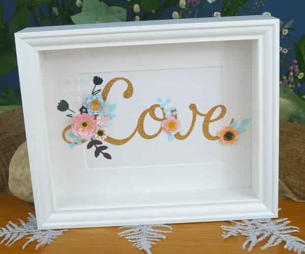 Love Paper Cut Frame