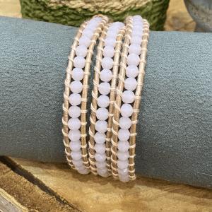 Light Pink Crystal Bracelet