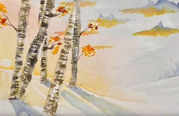 Winter Wonderland Watercolour