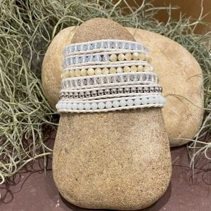 Crystals with Shells and metallic accent bracelet