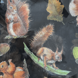 Black Squirrel and acorn snood