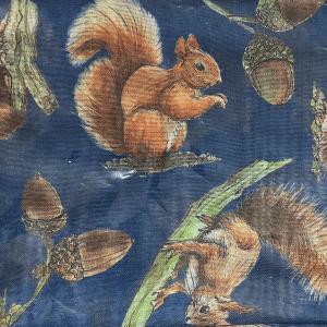 Teal Squirrel & Acorn Snood