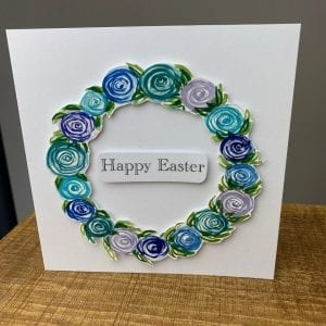 Easter Wreath Card Blue