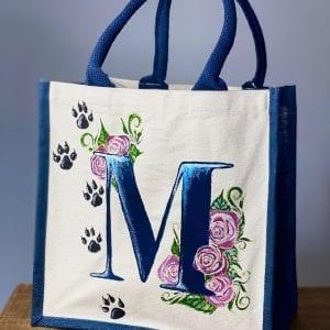 Monogrammed Blue Bag