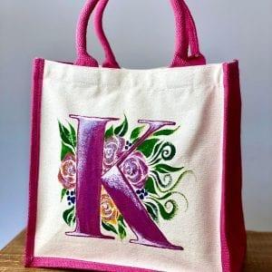 Monogrammed Pink Bag
