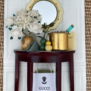 Champagne and Shopping Dressing Table